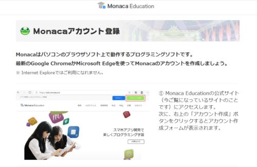 ぷよぷよプログラミング, Monacaアカウントの登録